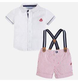 Mayoral Striped Short & Shirt Set
