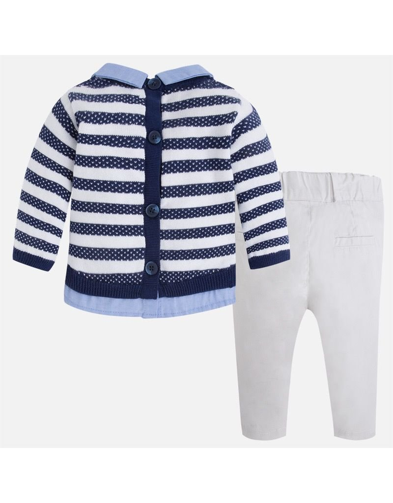 Mayoral Striped Sweater Set