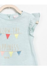 Play Up Follow the Happiness Flutter Sleeve Baby Tee