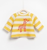 Play Up Embroidered Zebra Sweater