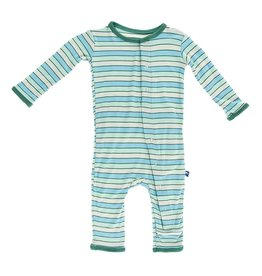 KicKee Pants Bamboo Blend Tropical Stripe Coverall