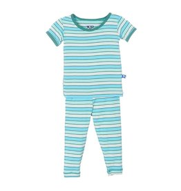 KicKee Pants Bamboo Blend Tropical Stripe Pajama Set
