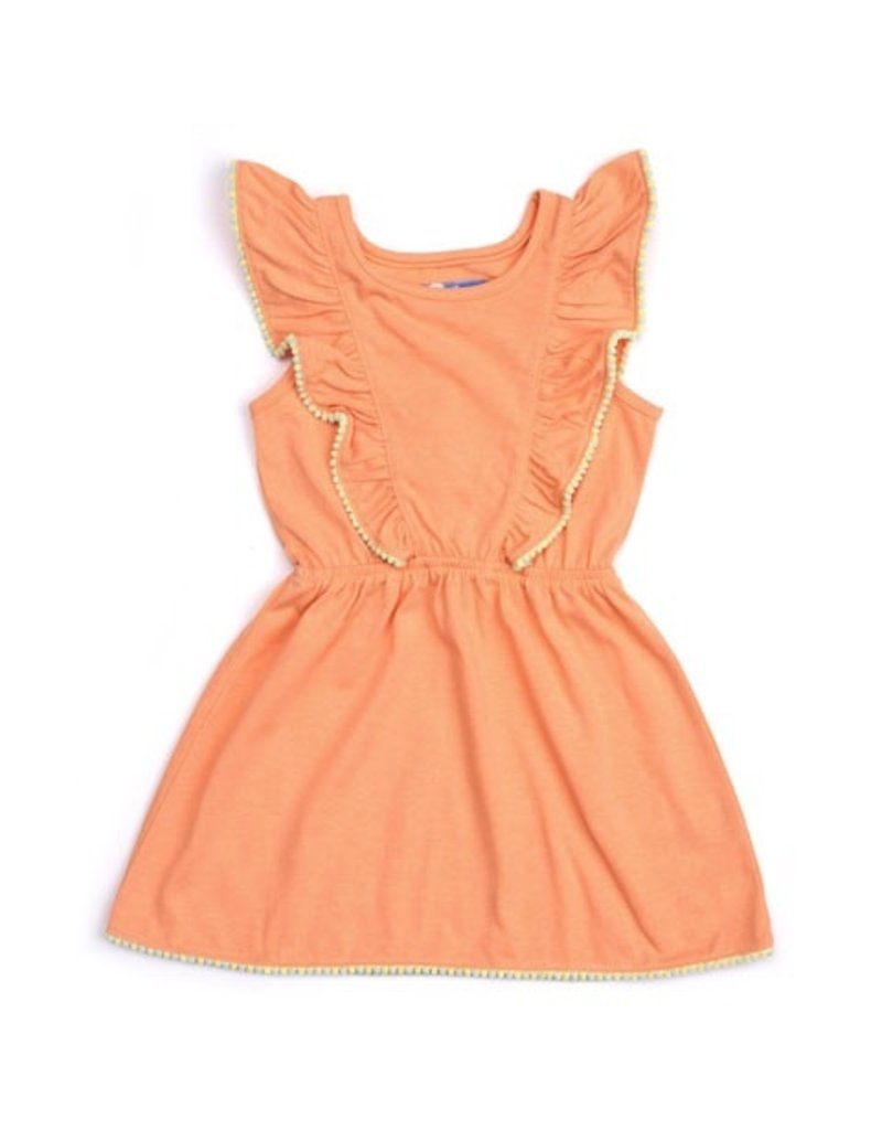 Kapital K Ruffled Yoke Pom-Pom Dress