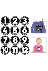 Sticky Bellies Modern Baby Milestone Stickers