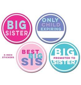 Sticky Bellies Big Sister Milestone Stickers