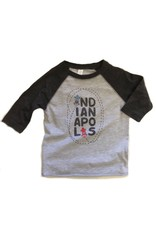 Kitten & Acorn Kitten & Acorn Indy Cars Raglan Tee in Grey