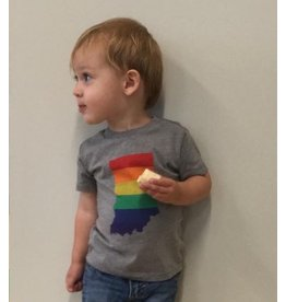 Indie Loves Indy Rainbow Indiana Tee