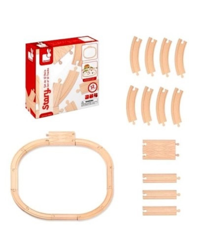 Janod Wooden Railway Set