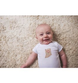 Elms and Cedars Handmade Hoosier Love Bodysuit by Elms & Cedars