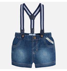 Mayoral Denim Shorts w/ Suspenders