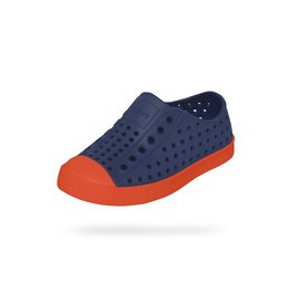 Native Shoes Jefferson Slip on Shoe in Regatta Blue/Flame Orange