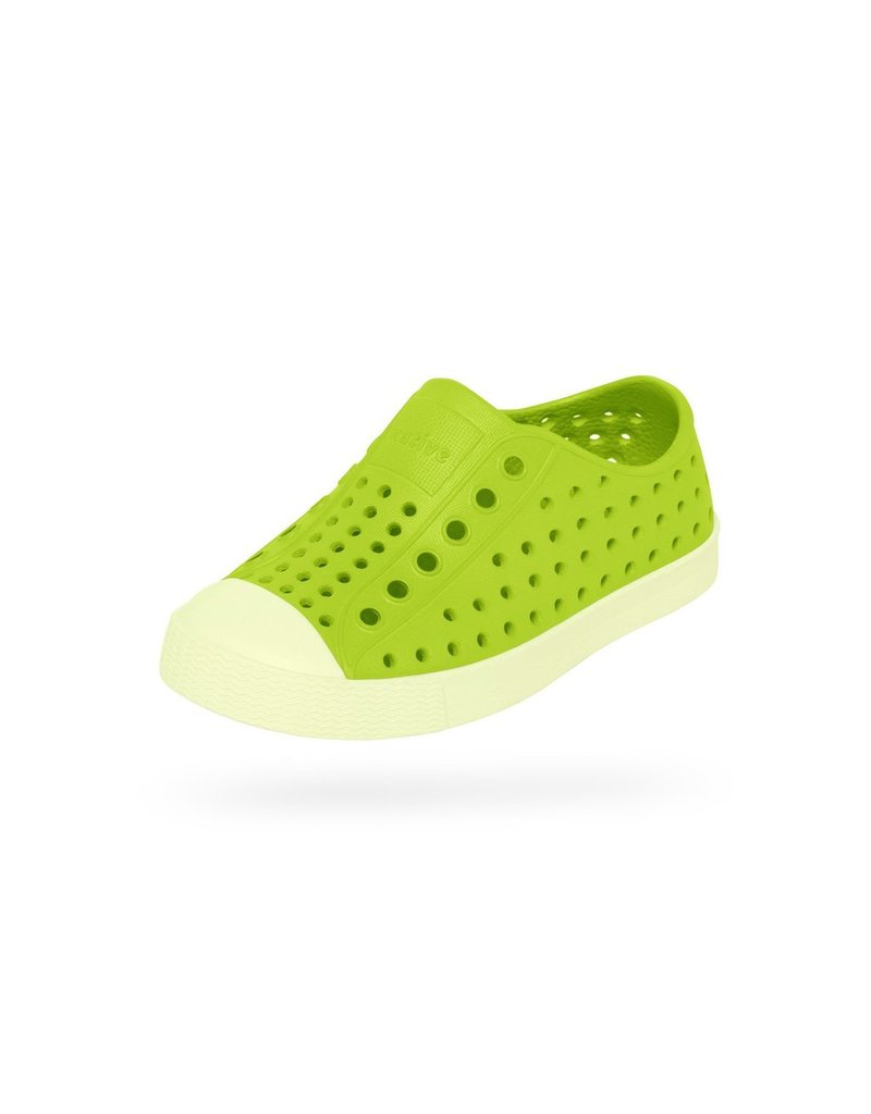 Native Shoes Jefferson Glow in the Dark Shoe in Chartreuse