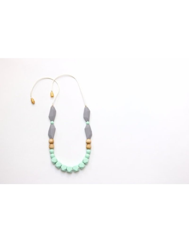 Silicone Teething Necklace with Hexi Beads