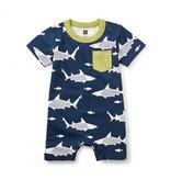 Tea Collection Shiver of Sharks Pocket Romper