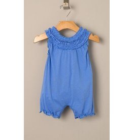 Feather Baby Solid Double Ruffle Romper