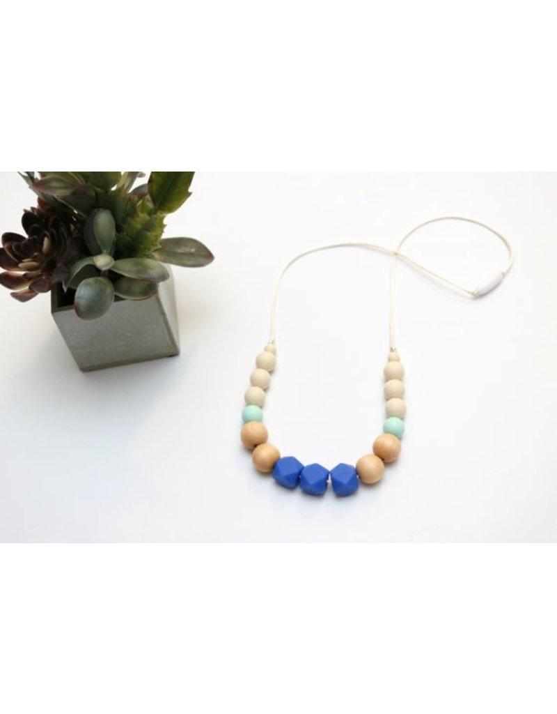 Mini Hexi Bead Teething Necklace