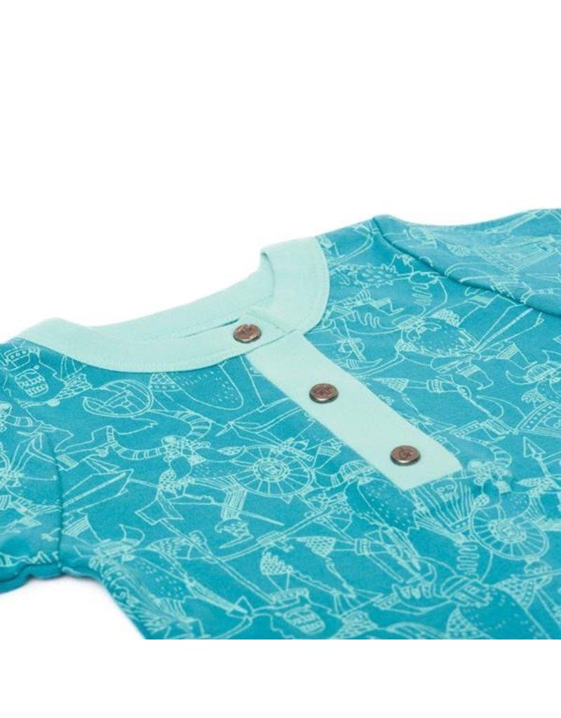 finn + emma Viking Print Short Sleeve Bodysuit