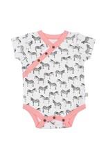 finn + emma Zebra Print Short Sleeve Bodysuit