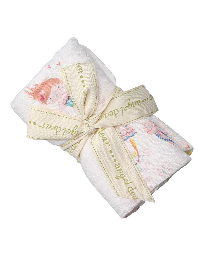 Angel Dear Bamboo Swaddle in Mermaids