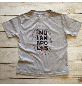 Kitten & Acorn Kitten & Acorn Indianapolis Tee in Heather Grey