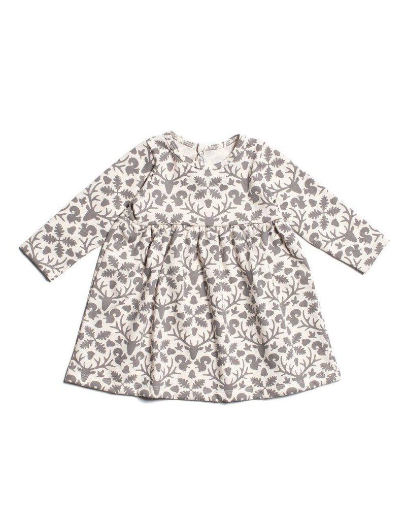 Winter Water Factory Organic Cotton Baby Dress in Animal Kingdom