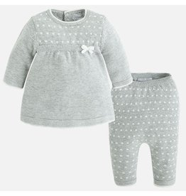 Mayoral Knit Sweater Dress and Pant Set