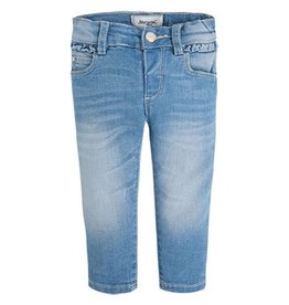 Mayoral Ruffle Trim Baby Jeans