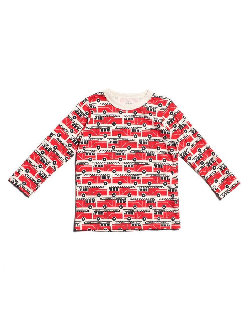 Winter Water Factory SALE! Organic Cotton Long Sleeve Fire Truck Tee