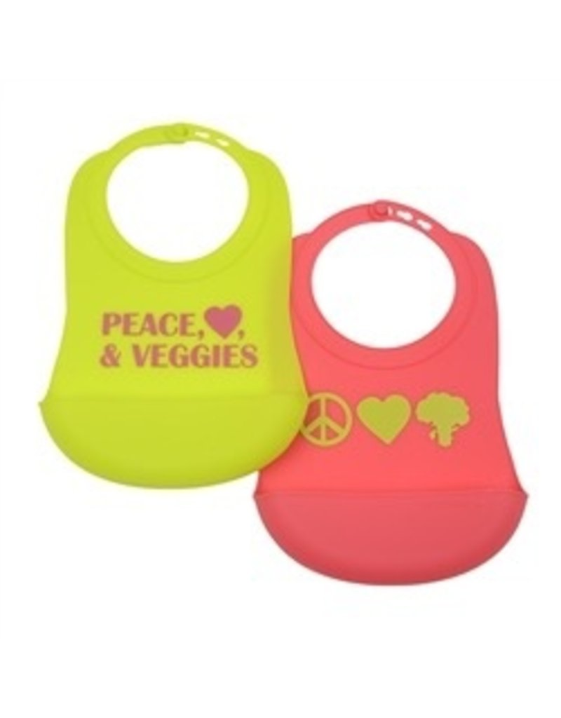 chewbeads CB EAT Silicone Bib with Crumb Catcher