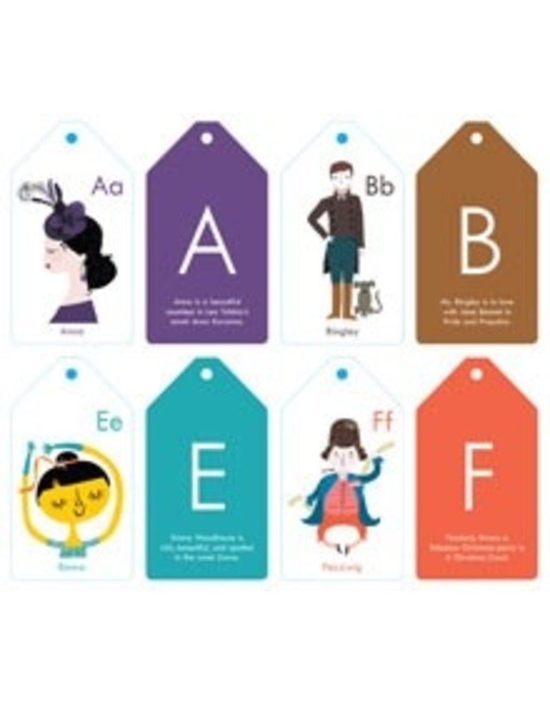 Literary ABC Stroller Flash Cards