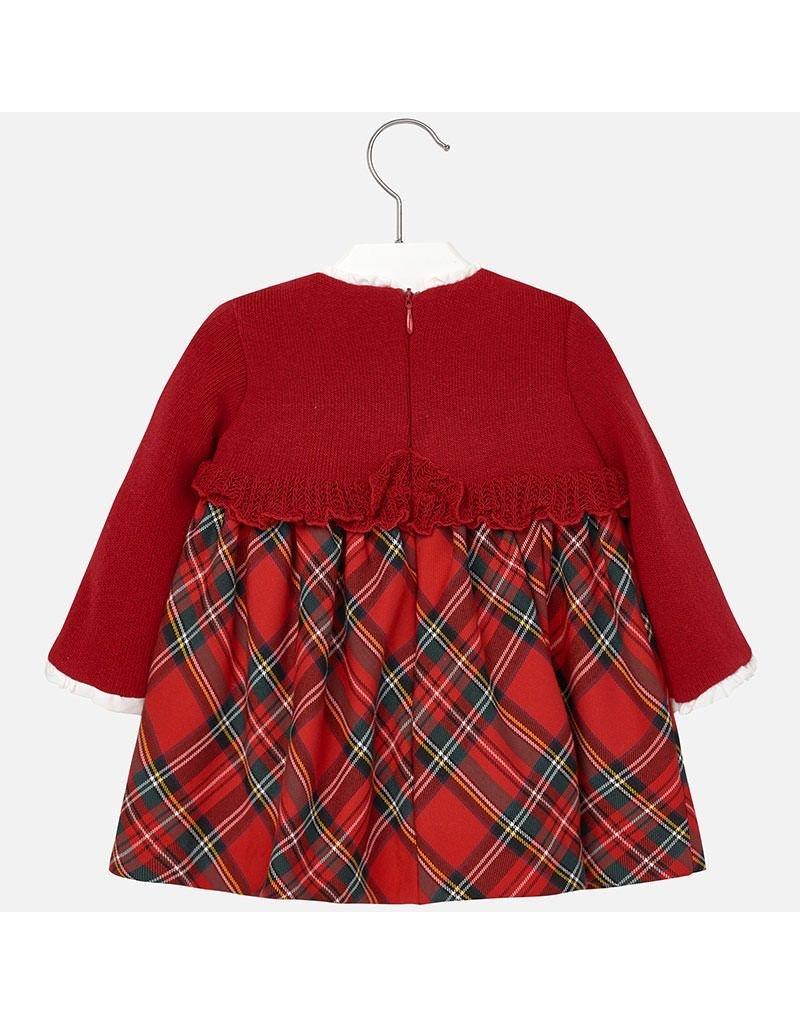 Mayoral SALE! Tartan Mix Holiday Dress