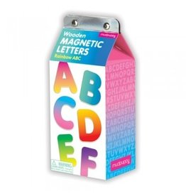 Wooden Magnetic Letters: Rainbow ABC