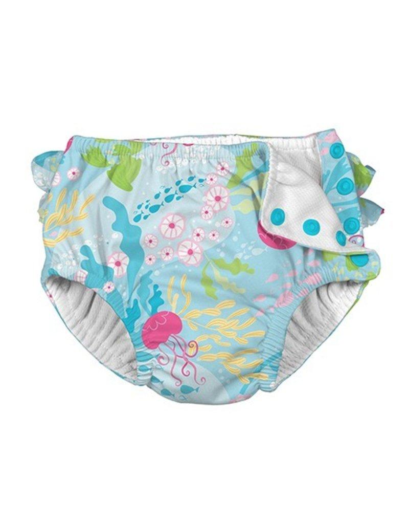 I Play Coral Reef Swim Diaper