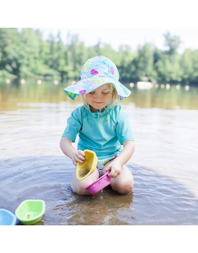 I Play Coral Reef Wide-Brim Sun Protection Hat