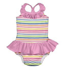 I Play One Piece Ruffled Swimsuit with Built-In Swim Diaper