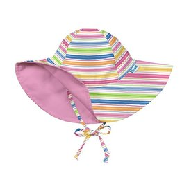 I Play Reversible Stripe Brim Protection Sunhat