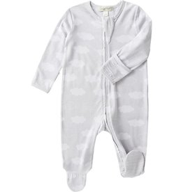 Angel Dear Grey Clouds Zip Up Footie