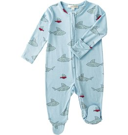 Angel Dear Shark & Friends Zipper Footie