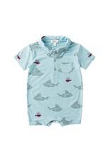 Angel Dear Shark & Friends Polo Romper