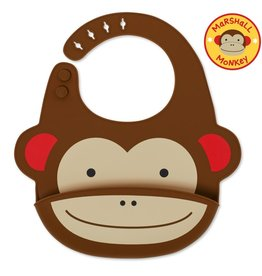Skip*Hop Monkey Fold & Go Silicone Bib