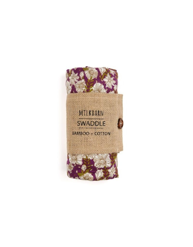Milkbarn Floral Bamboo Swaddle Blanket