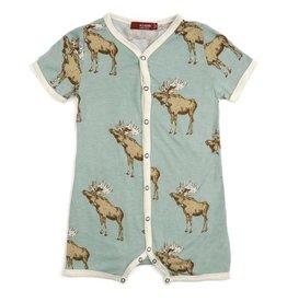Milkbarn Bow Tie Moose Bamboo Shortall