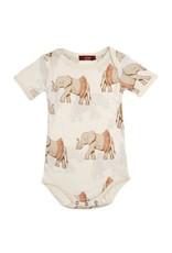 Milkbarn Tutu Elphant Short Sleeve Bamboo One Piece