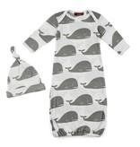 Milkbarn Whale Newborn Hat & Gown Set