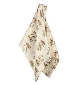Milkbarn Tutu Elephant Bamboo Swaddle Blanket