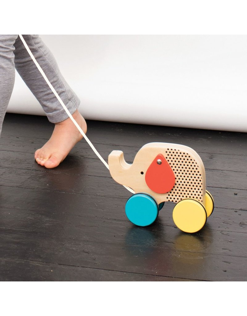 Petit Collage Jumping Jumbo Elephant Pull Toy
