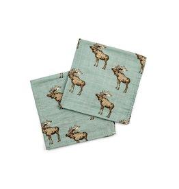 Milkbarn Bow Tie Moose Bamboo Burpie