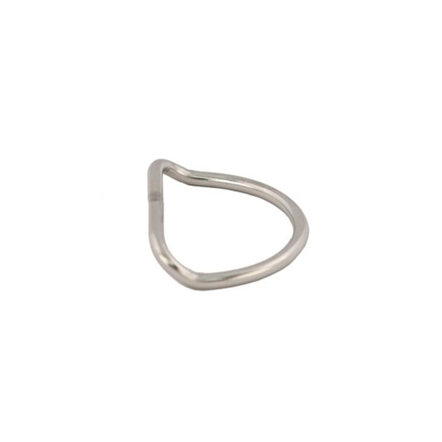 "Stainless Steel 2"" D Ring - Bent"
