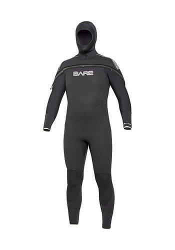 BARE Bare Mens 8/7 Velocity Semi-Dry Hooded Full
