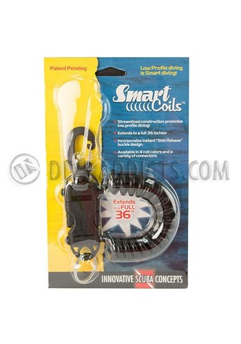 Innovative Scuba Concepts Smart Coil w/ SS gate swivel -  Black Coil